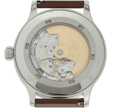 View 4. Thumbnail of Lot 62. REFERENCE 5522 PILOT CALATRAVA LE NEW YORK A LIMITED EDITION STAINLESS STEEL AUTOMATIC CENTER SECONDS WRISTWATCH, MADE FOR THE US MARKET, CIRCA 2018.