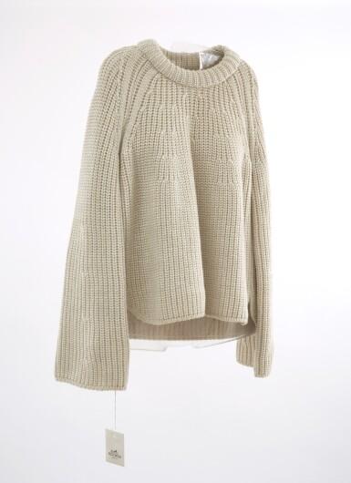 White wool sweater, Hermès