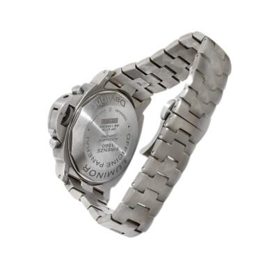 View 3. Thumbnail of Lot 9264. Panerai   Luminor Chrono Daylight, Reference PAM 327, A titanium chronograph wristwatch with date and bracelet, Circa 2009   沛納海   Luminor Chrono Daylight 型號PAM 327   鈦金屬計時鏈帶腕錶,備日期顯示,約2009年製.