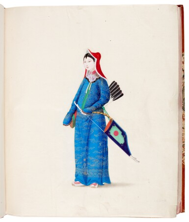 View 2. Thumbnail of Lot 166. China, Canton School | A superb album of 141 watercolours, c.1800.
