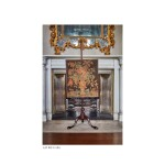 A GEORGE III MAHOGANY AND NEEDLEWORK FIRESCREEN, CIRCA 1765