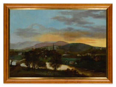 AMERICAN SCHOOL, 19TH CENTURY   VIEW OF THE VALLEY NEAR THE DELAWARE WATER GAP FROM NEW JERSEY