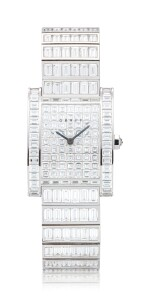 Reference WT4787 Exceptional White Gold and Baguette Diamond-Set Wristwatch | 格拉夫| 編號REF WT4787,超凡白金鑲方形鑽石腕表,約2010年製