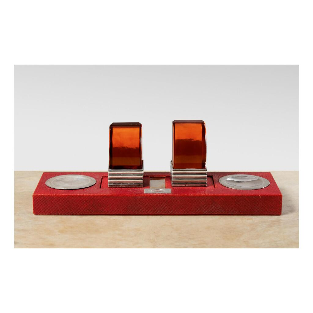 JEAN PUIFORCAT | DOUBLE INKSTAND WITH BOOKENDS