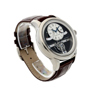 View 3. Thumbnail of Lot 183. REFERENCE J028034201 GRANDE SECONDE TOURBILLON A LIMITED EDITION WHITE GOLD TOURBILLON WRISTWATCH WITH RETROGRADE DATE AND POWER RESERVE INDICATION, MADE IN 2009.