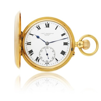View 1. Thumbnail of Lot 44. CHARLES FRODSHAM | A PINK GOLD HUNTING CASED WATCH CIRCA 1916.