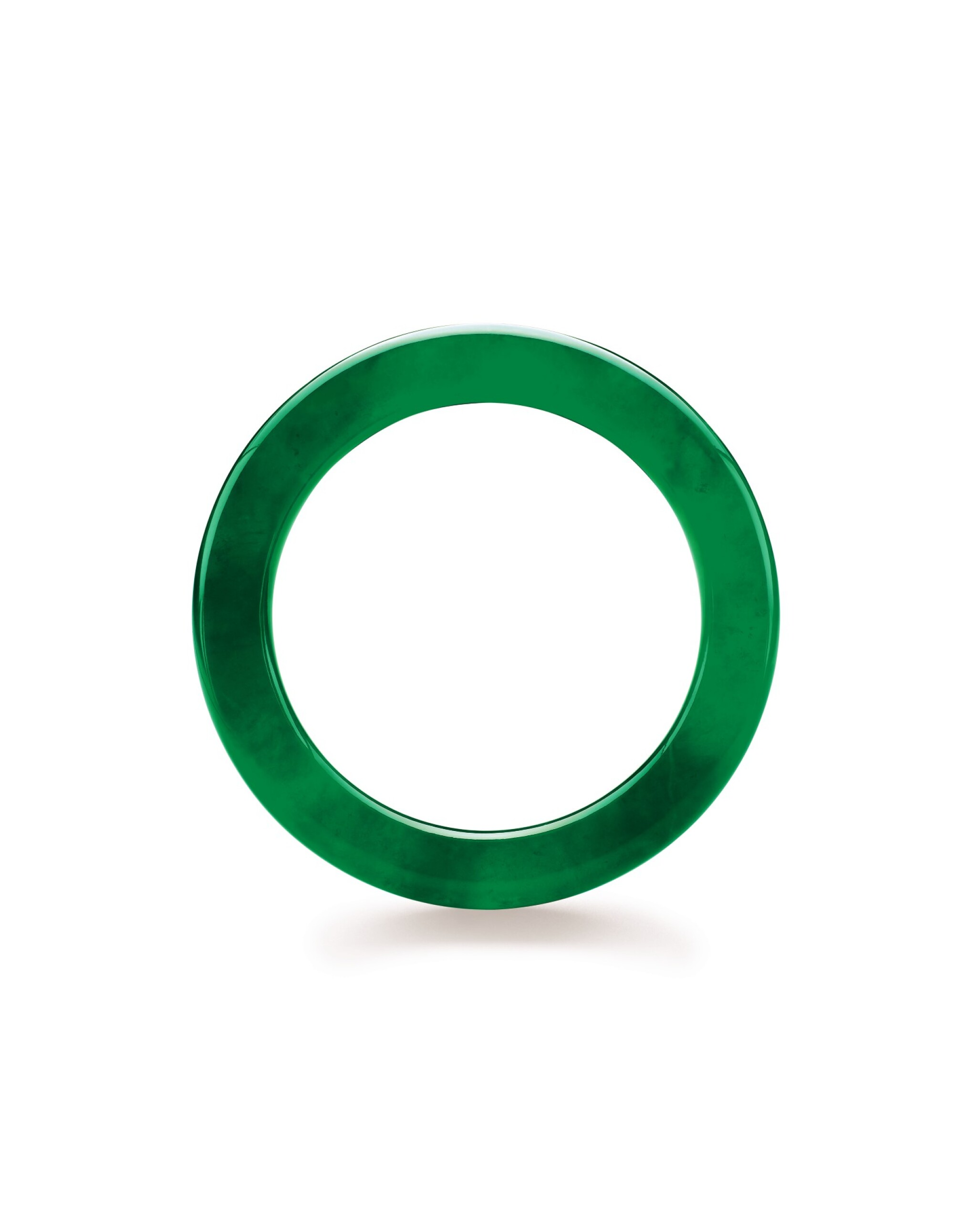 View full screen - View 1 of Lot 1766. An Exceptional Jadeite Bangle   【天賜圓滿】極其珍罕天然滿色翡翠手鐲.