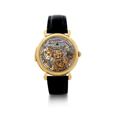 View 2. Thumbnail of Lot 182. REFERENCE 30030 A PINK GOLD SKELETONIZED MINUTE REPEATING WRISTWATCH, CIRCA 1995.