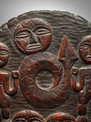 View 2. Thumbnail of Lot 35. Paiwan Container Lid, Taiwan.