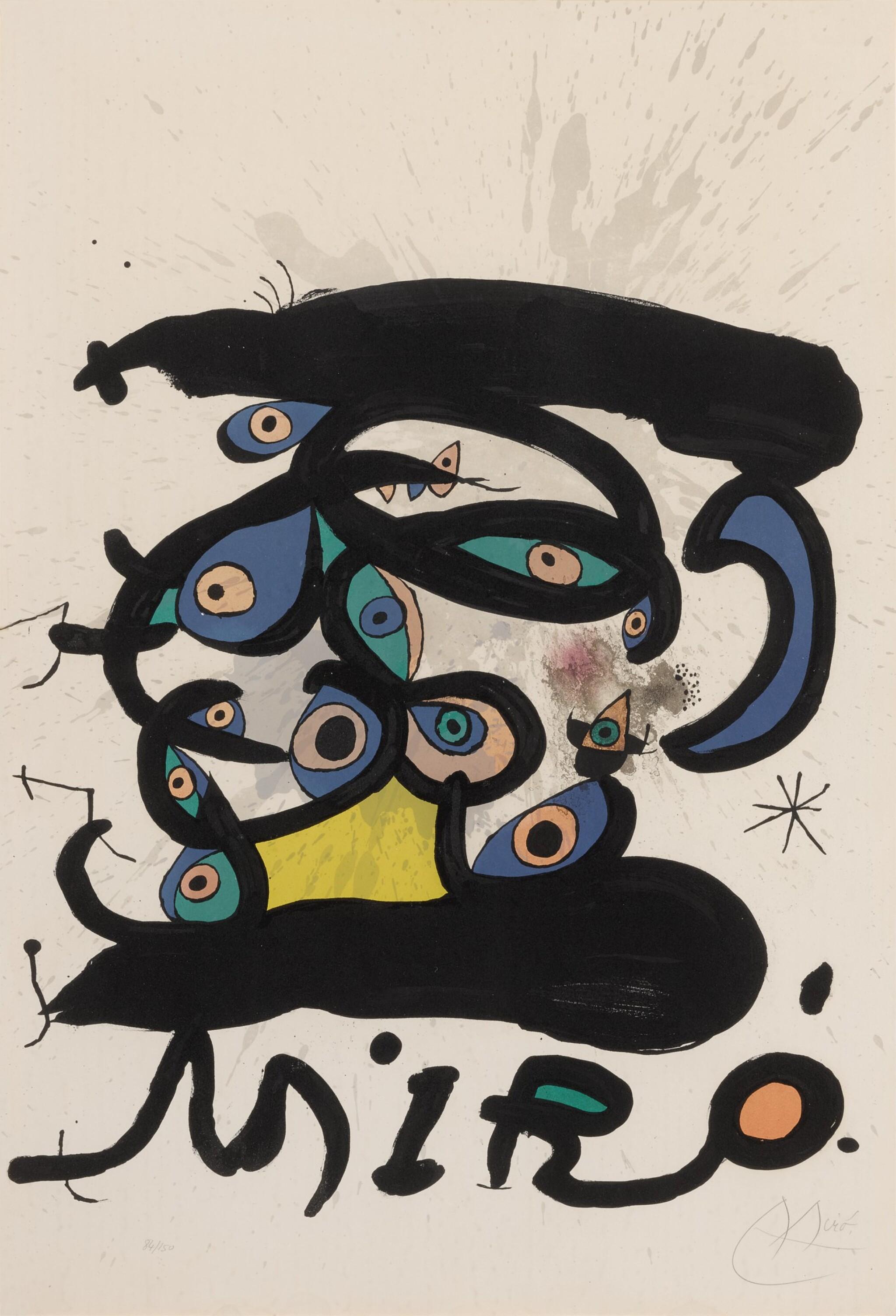 View full screen - View 1 of Lot 118. Affiche pour l'Exposition Peintres sur Papier, Dessins (M. 737).