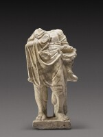 A Roman Giallo Antico Marble Figure of Herakles, circa 2nd Century A.D.