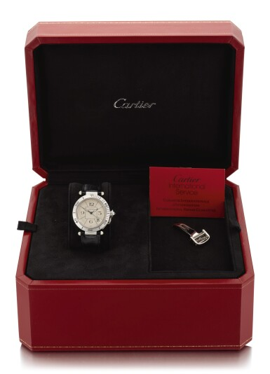 View 3. Thumbnail of Lot 17. CARTIER | PASHA, REFERENCE 1990, WHITE GOLD WRISTWATCH WITH DATE, CIRCA 1995.