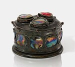 "TIFFANY STUDIOS | ""TURTLE-BACK"" TRIPLE INKSTAND"