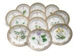 A Set of Twelve Royal Copenhagen 'Flora Danica' Salad Plates, Modern