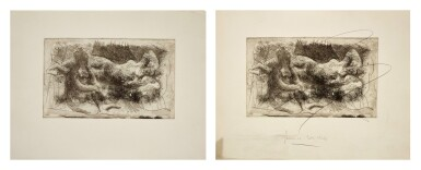 View 1. Thumbnail of Lot 118. PABLO PICASSO   TWO WORKS: FEMME VEILLANT UNE DORMEUSE (B. 238, BA. 261).