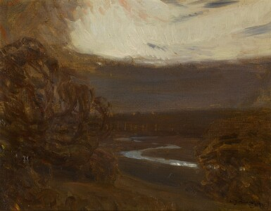 View 1. Thumbnail of Lot 133. River Landscape at Twilight.