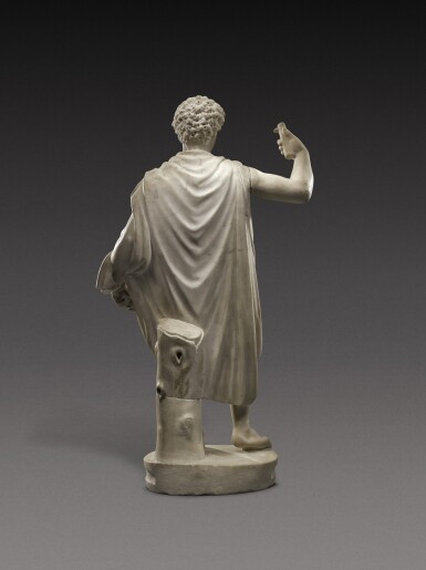 View 2. Thumbnail of Lot 67. A Roman Marble Figure of a Youth, circa 2nd Century A.D., with 18th-Century Head of Marcus Aurelius.