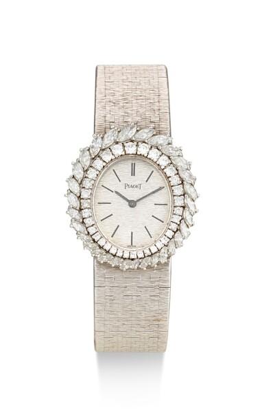 PIAGET | REFERENCE 9343 A6, A WHITE GOLD AND DIAMOND-SET BRACELET WATCH, CIRCA 1970
