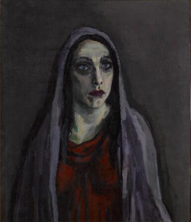 View 1. Thumbnail of Lot 13. Portret van Charlotte Theresia Catharina Köhler (1892-1977) (Portrait of Charlotte Theresia Catharina Köhler (1892-1977)).