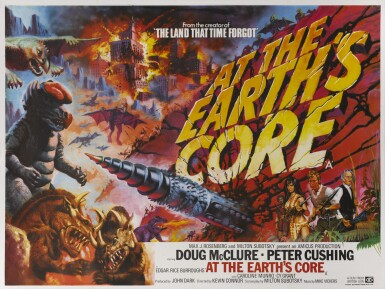 AT THE EARTH'S CORE (1976) POSTER, BRITISH
