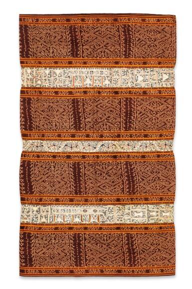 View 4. Thumbnail of Lot 34. Jupe de femme tapis, Lampung, Sumatra, Indonésie, fin du 19e siècle   Woman's wrapper tapis, Lampung, Sumatra, Indonesia, late 1880s.