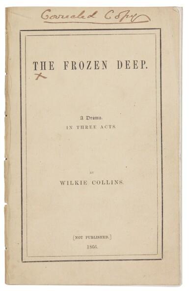 View 2. Thumbnail of Lot 202. Collins, Frozen Deep, 1866, author's corrected copy.