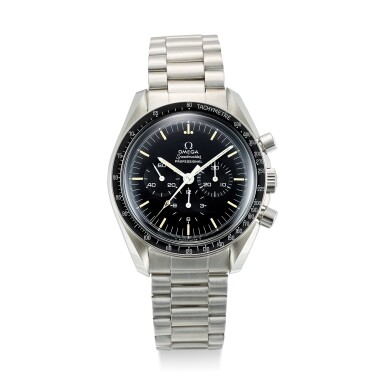 View 1. Thumbnail of Lot 618. OMEGA | SPEEDMASTER REFERENCE 145.022-69 ST A STAINLESS STEEL CHRONOGRAPH WRISTWATCH WITH BRACELET, CIRCA 1970.