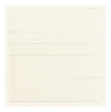 View 3. Thumbnail of Lot 63. AGNES MARTIN    UNTITLED.
