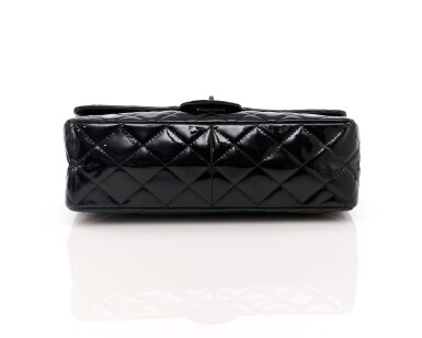View 3. Thumbnail of Lot 134. Black patent leather and silver-tone metal 2.55 reissue shoulder bag.