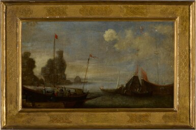 View 6. Thumbnail of Lot 99. A pair of shipping scenes with Maltese ships.