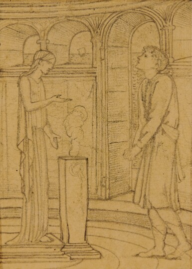 SIR EDWARD COLEY BURNE-JONES, BT., A.R.A., R.W.S. | Four Studies for The Story of Psyche