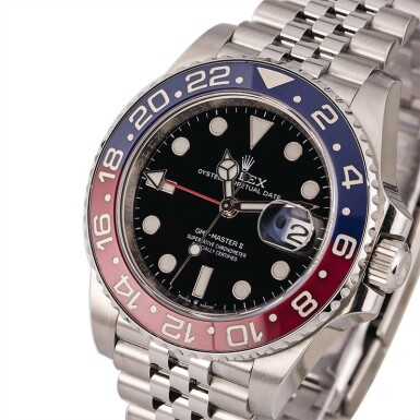 ROLEX | GMT Master II, Ref. 126710BLRO, A Stainless Steel Wristwatch with Bracelet, Circa 2018