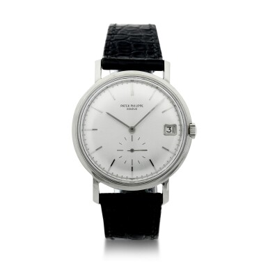 View 1. Thumbnail of Lot 145. REFERENCE 3541 A WHITE GOLD WRISTWATCH WITH DATE, MADE IN 1967.