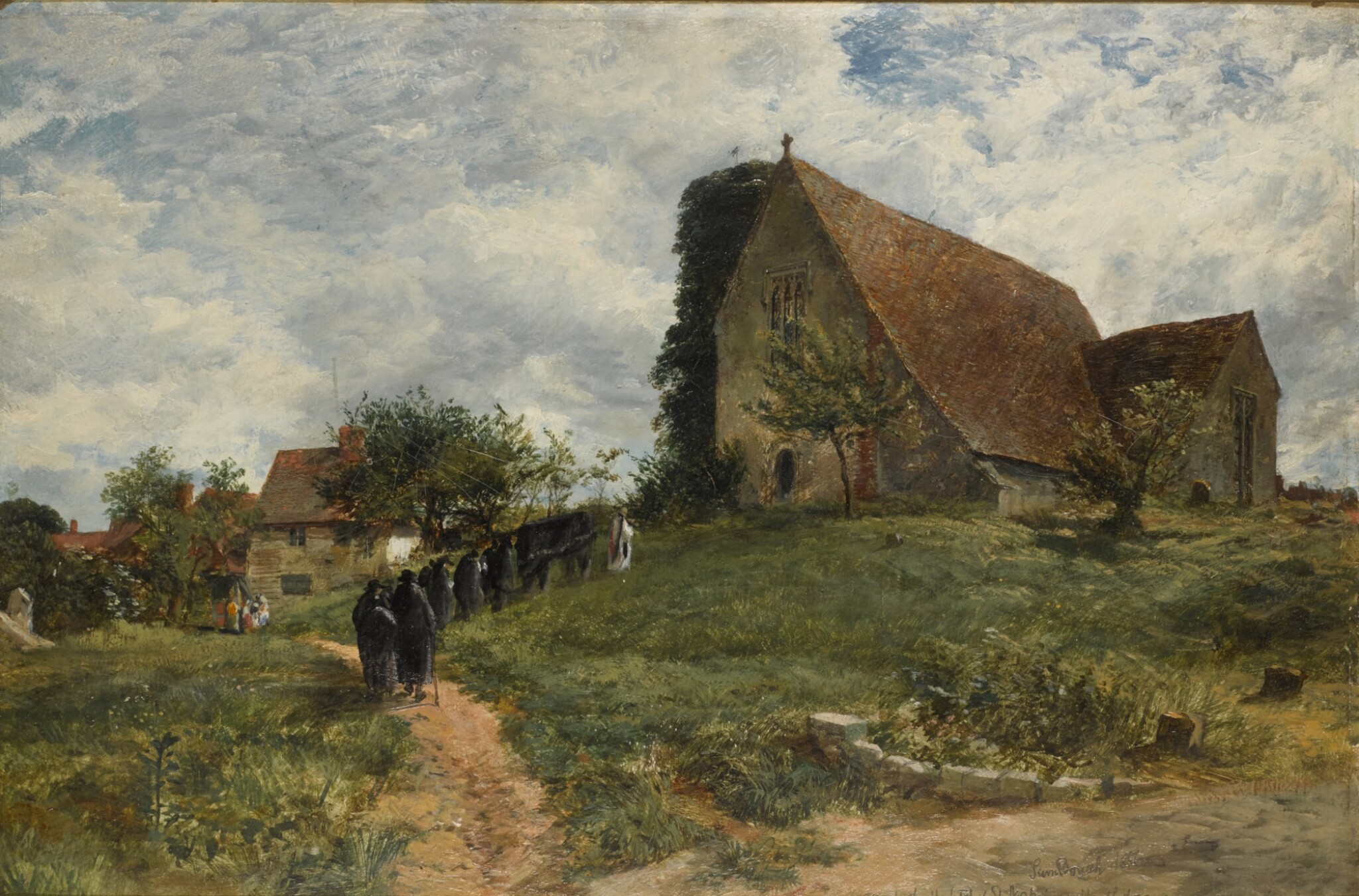 View full screen - View 1 of Lot 219. SAMUEL BOUGH | The church at the Hospital of St. Nicholas, Harbledown, near Canterbury.