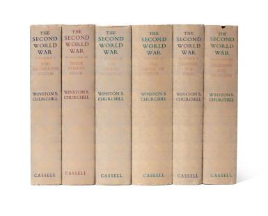 CHURCHILL | The Second World War Cassell, 1948- 1954, signed