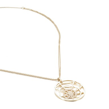 View 2. Thumbnail of Lot 74. Gold and diamond necklace, 'Attrape-moi... si tu m'aimes'.