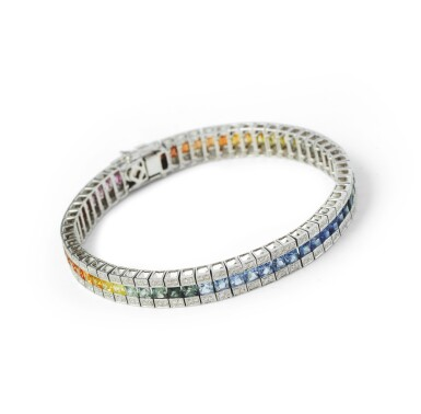 Sapphire and diamond bracelet [Bracelet saphirs et diamants]