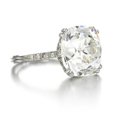 View 2. Thumbnail of Lot 39. Diamond ring, circa 1910.