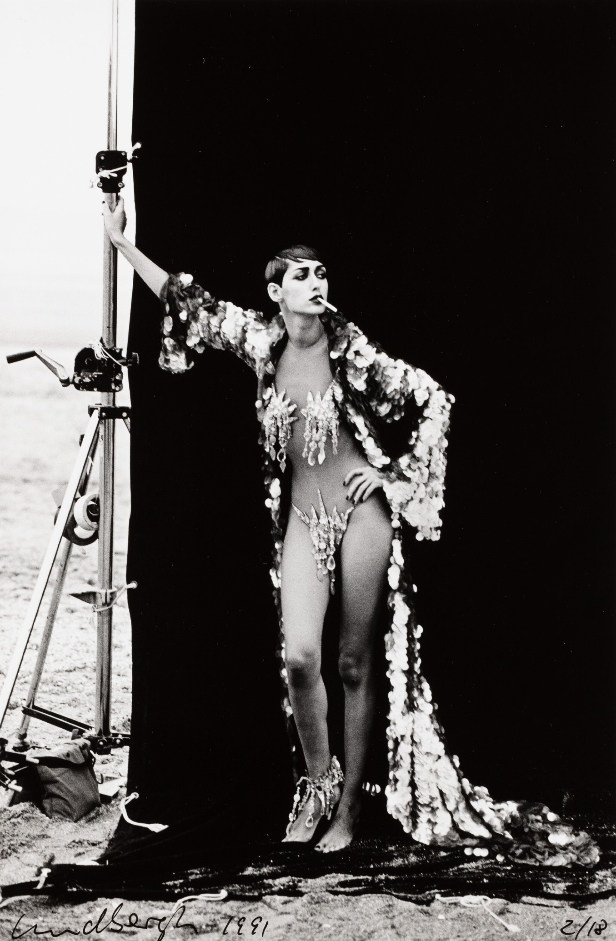 View full screen - View 1 of Lot 121. PETER LINDBERGH   GISELLE FOR FRENCH VOGUE, DEAUVILLE 1991.