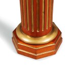 A NEOCLASSICAL STYLE BRASS AND MAHOGANY STAND, NORTHERN EUROPE, 19TH CENTURY | GAINE EN ACAJOU ET LAITON DE STYLE NÉOCLASSIQUE, EUROPE DU NORD, XIXE SIÈCLE