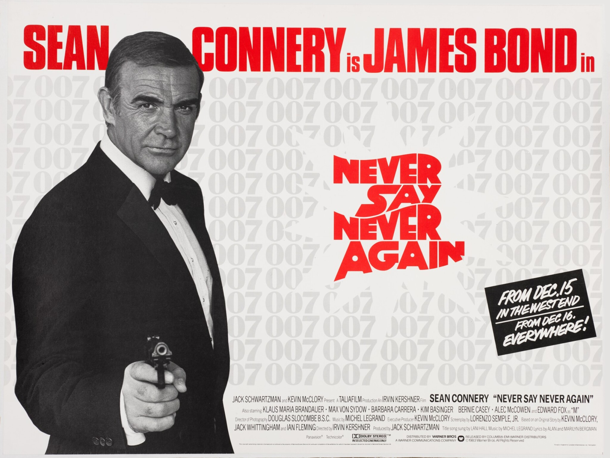 View 1 of Lot 146. NEVER SAY NEVER AGAIN (1983) POSTER, BRITISH, ADVANCE.