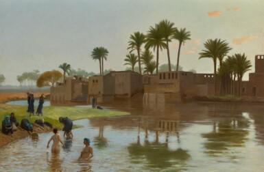 View 1. Thumbnail of Lot 29. Femmes fellahs au bain.