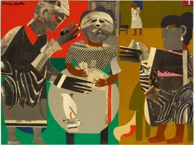 View 1. Thumbnail of Lot 2. ROMARE BEARDEN | THE FORTUNE TELLER.