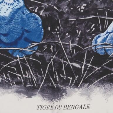 "Hermès ""Tigre du Bengale"" Silk Twill Scarf 90cm"