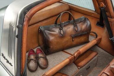 View 6. Thumbnail of Lot 1. Berluti | Porsche, Bag and Driving Shoes (Porsche, Sac et Souliers de Conduite) [3 Items /Articles].