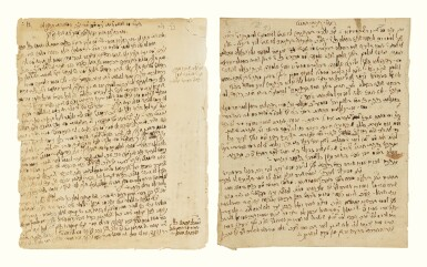View 1. Thumbnail of Lot 180. EIGHT AUTOGRAPH PAGES WRITTEN BY THE HATAM SOFER, [PRESSBURG: EARLY 19TH CENTURY].