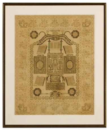 View 2. Thumbnail of Lot 173. A MAGNIFICENT MICROGRAPHIC OMER CALENDAR, ZEVI HIRSCH BEN DAVID, AMSTERDAM: 1830.