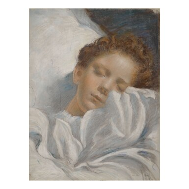 LUC OLIVIER MERSON | STUDY OF A SLEEPING CHILD