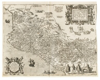 View 6. Thumbnail of Lot 198. [Grands voyages]. Frankfurt, Johann Wechel, 1590-1625.12 parties en 4 volumes in-folio. Vélin ancien..