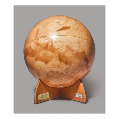 MARS GLOBE. VISUAL-RELIEF MARINER 9 MARS GLOBE. CHICAGO: DENOYER-GEPPERT CO., 1973